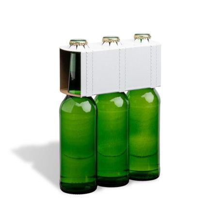 3er Flaschenträger 0,33 l Longneck Motiv unbedruckt