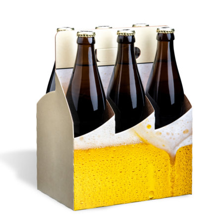 Flaschentraeger 6er Basket Motiv Bierschaum