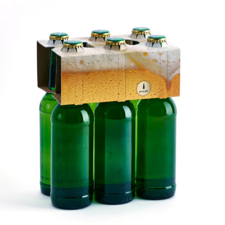 Flaschenträger 6er Aufsteckträger Longneck Bierschaum Motiv