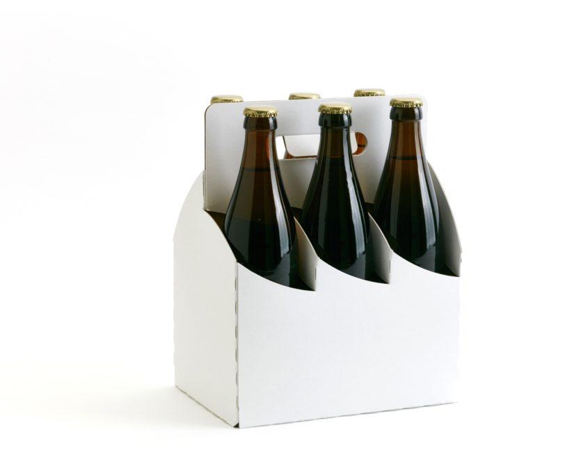 6er Basket Flaschenträger in weiß