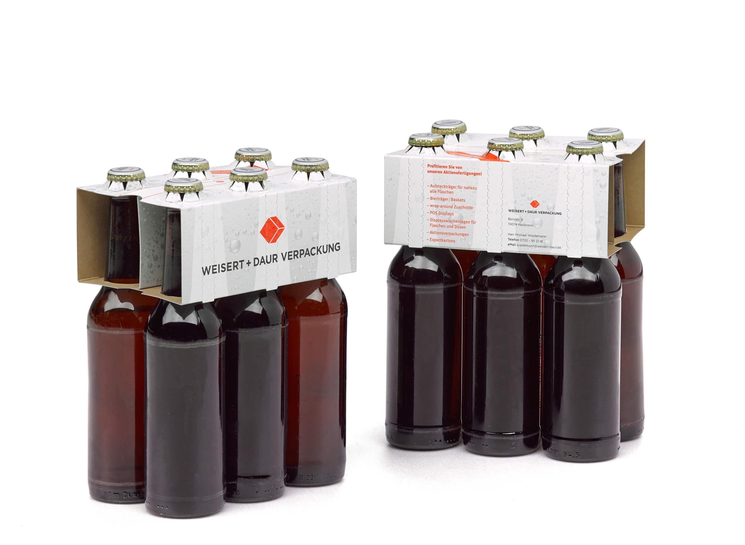 6er Aufsteckträger für viele Flaschentypen