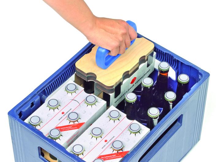 Aufsteckhilfen für leichte Konfektionierung direkt im Kasten