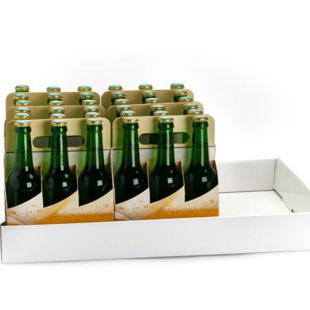 Flaschentraeger Zwischenlagentray mit Baskets gefüllt