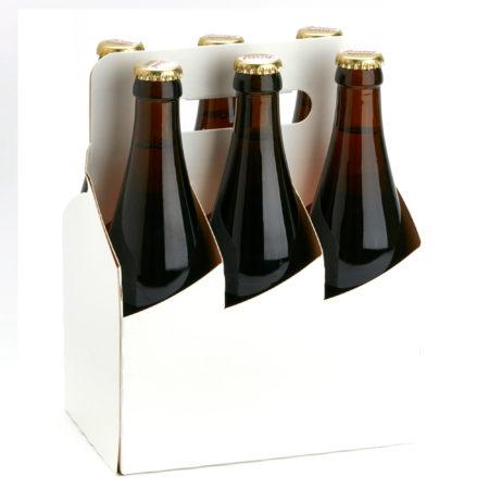 flaschentraeger 6erbasket in weiß mit vichyflaschen