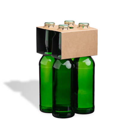4er Flaschenträger 0,33 l Longneck Naturkraftkarton