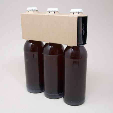 3er Aufsteckträger Naturkraftkarton 0,33 Liter Longneck Flasche