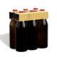 6er Flaschenträger 0,5 l Euroflasche Motiv Dolde