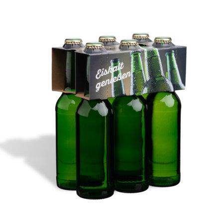 6er Flaschenträger 0,33 l Longneck Motiv Eiskalt