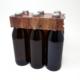 6er Flaschenträger Holzoptik 0,5 Liter Euroflasche