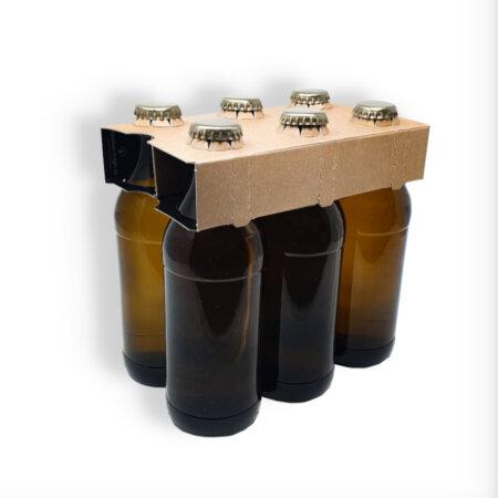 6er Aufsteckträger Naturkraftkarton für 0,33 l Euroflaschen
